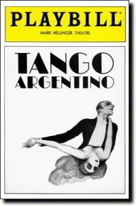 Tango Argentino Playbill,1985